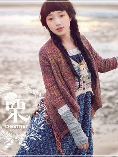 Fabulous knit from AsianCandy ~ no pattern ~ love the subtle multi colour yarn used along with the texture of the pattern and finished with the fringing on the wrap.
