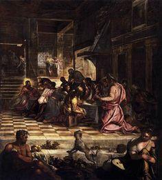 La última cena, 1579-1581 - Tintoretto