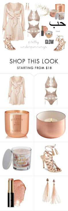 """Rose Gold Digger"" by anatoraya ❤ liked on Polyvore featuring Oh My Love, Agent Provocateur, Tom Dixon, SONOMA Goods for Life, Charles David, Bobbi Brown Cosmetics, Topshop, Christian Dior and prettyunderpinnings"
