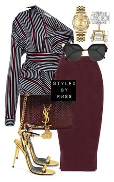 """Untitled #683"" by styledbyemss ❤ liked on Polyvore featuring SemSem, By Malene Birger, Yves Saint Laurent, Tom Ford, Fendi, Rolex and Allurez"