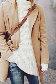 24 Images of Layers, Coats & Cable Knit Sweaters