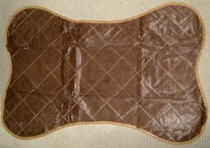 "That Dog Gone Mat Bed Car Crate Kennel Couch Protector Brown Pet Bone 41"" 32574 #Notspecified"