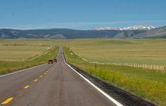 Laramie Valley Looking Toward Snowy Mountains