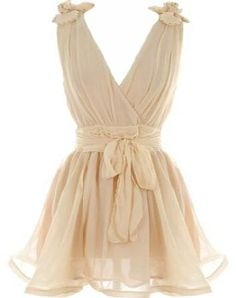 Cream elegant evening dress