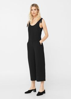 de1a0a032a Shoulder detail jumpsuit - Woman