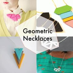 Stylish and Funky Geometric DIY Necklaces
