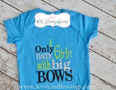 Boy onesie I only Date girls with big bows - baby shower - boy onesie - boy on Etsy, $18.00