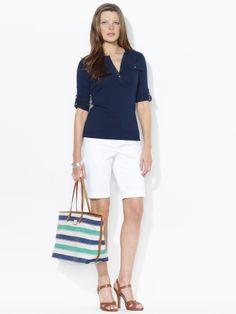 white blazer and Bermuda shorts | My Style | Pinterest | Bermuda ...