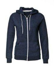 Zip front hooded sweatshirt