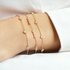 Discover diamond and gemstone cuffs and bracelets by fine jewelry designer Dana Rebecca Designs. Shop our vast collection of designer bracelets online. Dainty Bracelets, Diamond Bracelets, Ankle Bracelets, Sterling Silver Bracelets, Diamond Jewelry, Jewelry Bracelets, Pandora Bracelets, Jewellery, Silver Ring