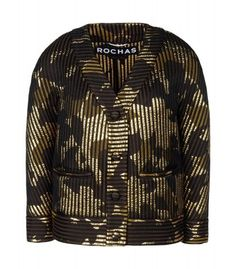 New Arrivals at #ShopBAZAAR – Rochas Gold Lamé Blazer