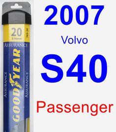 Passenger Wiper Blade for 2007 Volvo S40 - Assurance