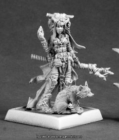 60048: Feiya, Iconic Witch & Fox Familiar ($5.99) Julie Guthrie Reaper Miniatures :: OnlineStore