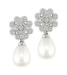 83b661b777b1 Los pendientes TUVALU son unos exclusivos pendientes de novia que nos  transportan a las piezas de alta joyería clásica