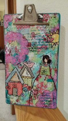 Altered clipboard, mixed-media style. Used Christy Tomlinson decals.