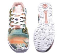 Adidas Originals Womens ZX Flux Farm Trainer   Dust Pink   Footasylum