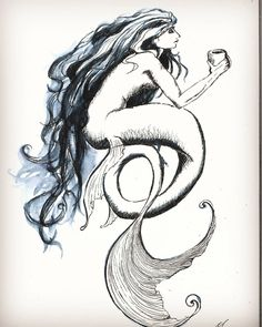Mermaid and coffee. Wake up and be flawless yo.  #drawing #draw #fancy #mermaid #inkdrawing #sketch #art #artist #arte #artoftheday #artistic #artsy #illustration #photooftheday #vsco #instaart #instaartist #ink #fintech #talented #masterpiece #beautiful #talent #creative #vscocam #sketching #dibujo #instadraw #nature #artwork