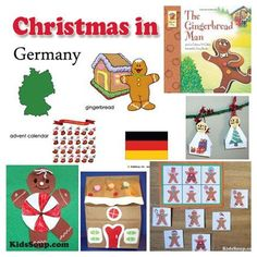 Christmas in Germany! Frohe Weihnachten (Merry Christmas) crafts, activities, games all around gingerbread, and the Advent Calendar.
