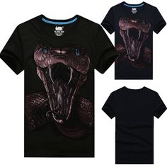 Sale 15% (10.88$) - Mens Fashion Casual Hip Hop 3D Animal Print Short Sleeve T-shirt