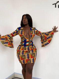 Ankara printed dress / kitenge short dress for women's / party dress for women's / African print sex mind dress for weddings and party - African fashion Black Women Fashion, Look Fashion, Fashion Models, Girl Fashion, Female Fashion, Fashion Outfits, Black Fashion Bloggers, Fashion Hacks, Street Fashion