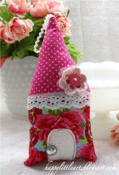 cute little fabric House