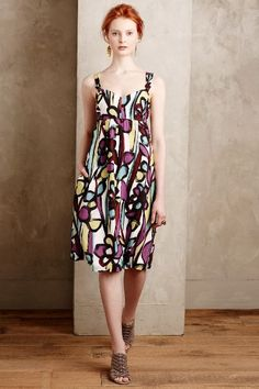 Abstract Floral Tank Dress - anthropologie.com