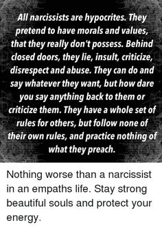 What do narcissists say