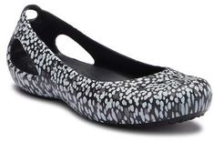 3de56ff90d6 Crocs Kadee Graphic Slip-On Flat Faux-Suede Ballet Flats for Women  fashion