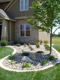 River Rock Garden | ... Drainage Solutions - Des Moines Iowa landscaping - Perennial Gardens