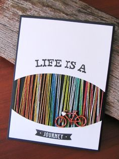 Such a cute card idea, I am totally going to do this sometime. ~Life is a journey~ Cute Cards, Diy Cards, Fabric Spray Paint, Tarjetas Diy, Scrapbook Cards, Scrapbooking, Simon Says Stamp, Card Kit, Making Ideas