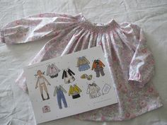 smocks de papier, by Célestine & Cie Smocks, Liberty, Sarah Kay, Vestidos, Children Outfits, Drawing Drawing, Objects, Paper, Paint