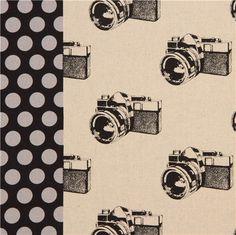 natural retro camera laminate echino fabric camera