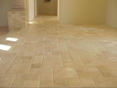 pillowed travertine tile