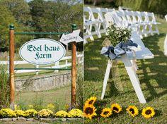 Beautiful #flowers garner every element of this wedding in #EdelHausFarm, #NewJersey. Congratulations Natalie and Adam!