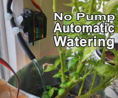 In this instructable I'm going to show you how you can make your very own automatic plant watering system. The best part? This solution requires no pump!The benefit of using an automatic watering system is that you avoid having your plants start to dry out, and you also wont accidentally soak your plants. The moisture is kept at the perfect level for your plants and you end up using less water!There's a lot of different automatic watering systems out there. These seem to work great however…