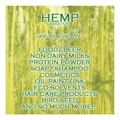 Did You Know That #HempSeed #HempOil Can Be Used To Make So Many Things? #Hemp #PureHemp #Beer #Protein #Cosmetics