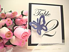 Table Number, Escort Cards, Thank You Tag Butterfly Wedding Theme Wedding Paper Goods. $11.00, via Etsy.