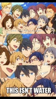 Free! ~~ The final end card of the first season and Haruka is NOT amused.