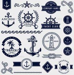 Sea and Nautical Design Elements