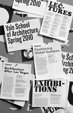 Yale School of Architecture poster series - Yve Ludwig Graphic Design