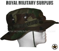 This US Woodland Camouflage Pattern Military Boonie Hat is in use by USA Armed Forces. Made following Military Specifications. All items are brand new and available in size S-M-L-XL. In use by Army, Military, Police and Special Forces of International Forces. Visit our Website at www.royalmilitarysurplus.com