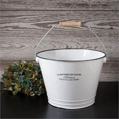 Enamelware Ice Bucket