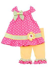 Sewing For Babies Rare Editions Dot Capri Set Toddler Girls - Toddler Dress, Toddler Outfits, Kids Outfits, Toddler Girls, Baby Girls, Little Girl Fashion, Toddler Fashion, Kids Fashion, Little Dresses