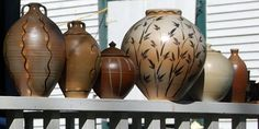 Naught Hill Wood Fired Pottery--One of a kind handmade pottery. Beautiful work