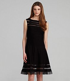 Alex Evenings V-Neck Mesh Gown | Dillards.com long black dress ...