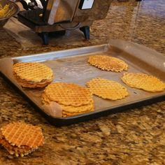 Rosemary Parmesan pizzelles