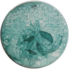 Aimée van Drimmelen painting on drumskin http://aimeevandrimmelen.com/index.php?/drumskins/series-i/ http://www.mammothandcompany.com/shop/ghost-fish-3-by-aim%C3%A9e-van-drimmelen/