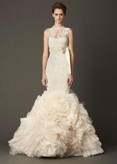 Vera Wang Lark gown. Vera Wang gowns are sold at The Bridal Salon at Saks Jandel.