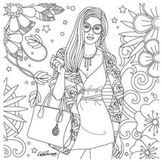 309 Best Fashion Coloring Pages for Adults images | Adult coloring ...