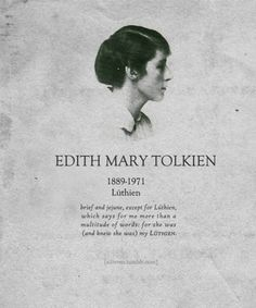 Tolkien's wife's gravestone. He was buried next to her and underneath his name they inscribed Beren. Together they were Beren and Luthien :) Also Luthien was based off of Edith whom he loved very dearly <3